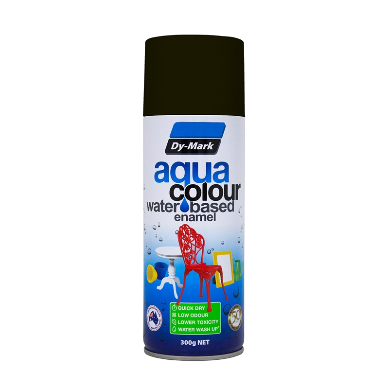Dy Mark 300g Aquacolour Water Based Enamel Flat Black Bunnings Warehouse