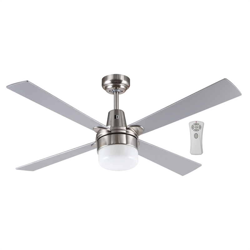 Mercator 120cm Brushed Chrome Kimberley Ceiling Fan With Light And Remote