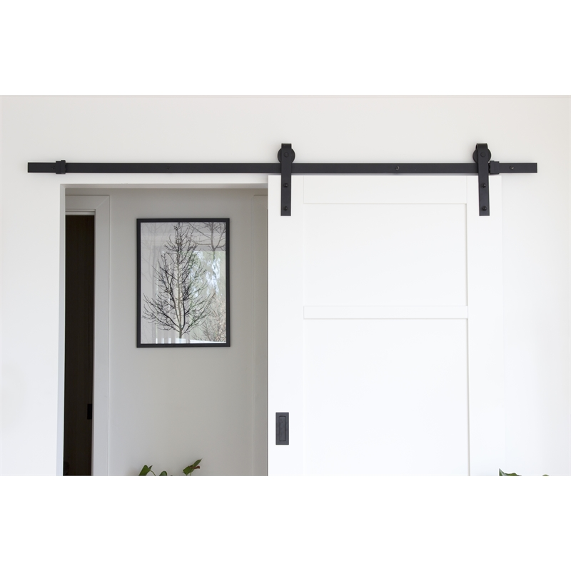 Lockwood 2m Outland Barn Door Track Hardware Kit Bunnings Warehouse