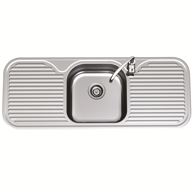 Clark 1230mm Advance Single Centre Sink Bowl LH 1TH | Bunnings Warehouse