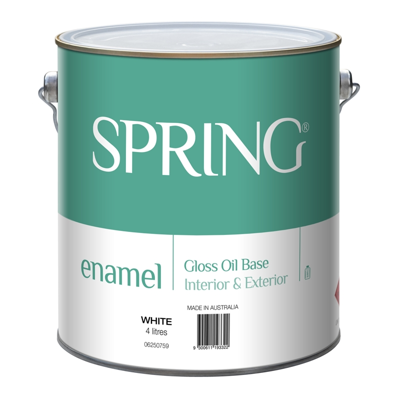 Spring 4l Gloss White Enamel Paint