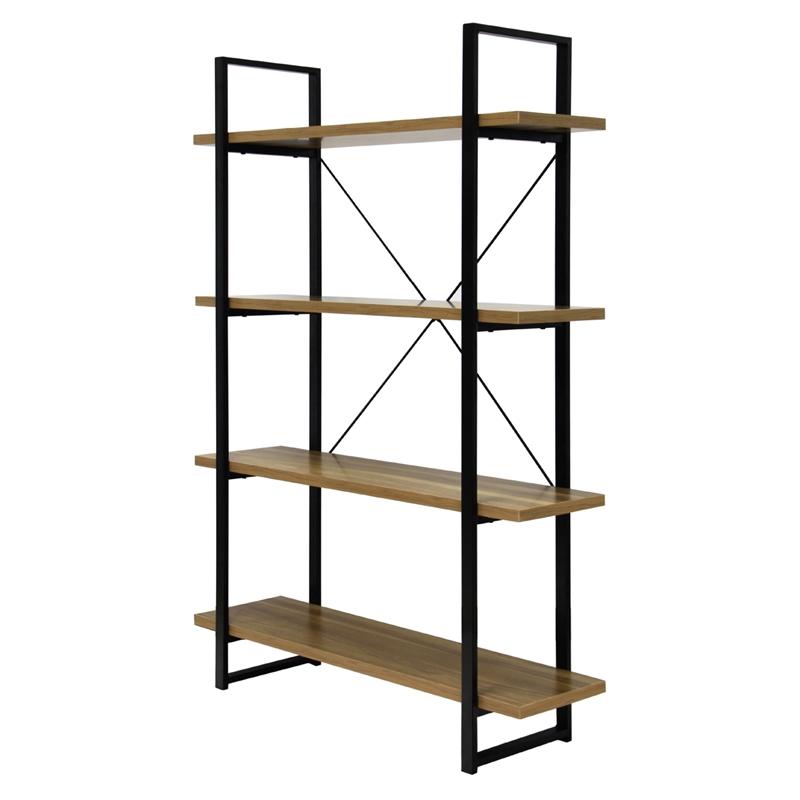 Montgomery 4 Shelf Industrial Bookshelf