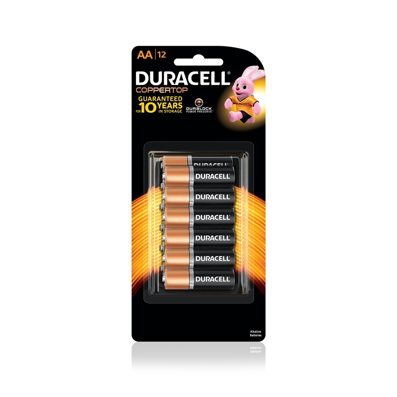 Duracell AA Coppertop Batteries - 12 Pack | Bunnings Warehouse