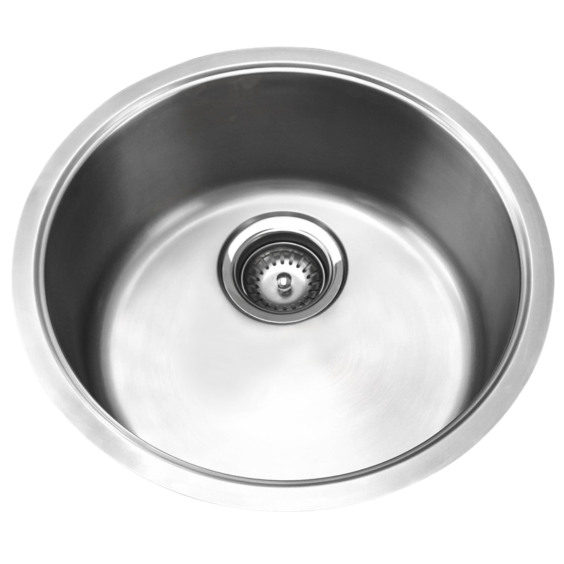 Genial Resonance Single Round Stainless Steel Bowl Sink