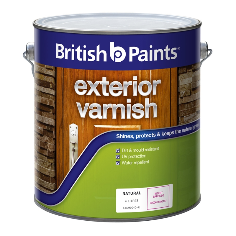 British paints 4 litre exterior clear satin varnish i n 1420387 bunnings warehouse - Exterior satin wood paint property ...