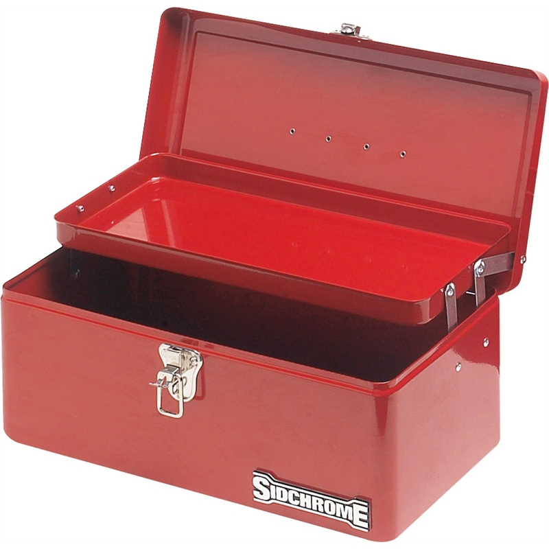Sidchrome 1 Tray Red Lockable Cantilever Tool Box