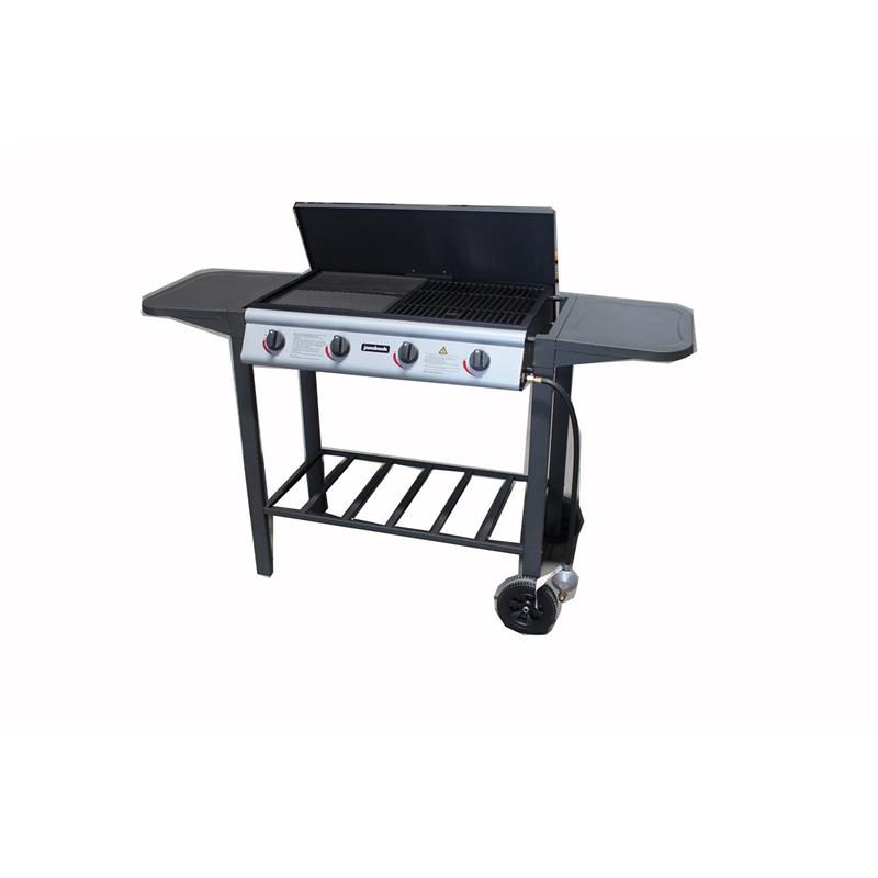 4 Burner Flat Top BBQ With Grill