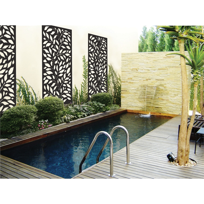 Matrix 1800 x 900 x 7mm charcoal jungle d cor screen panel for Outdoor decorative screens