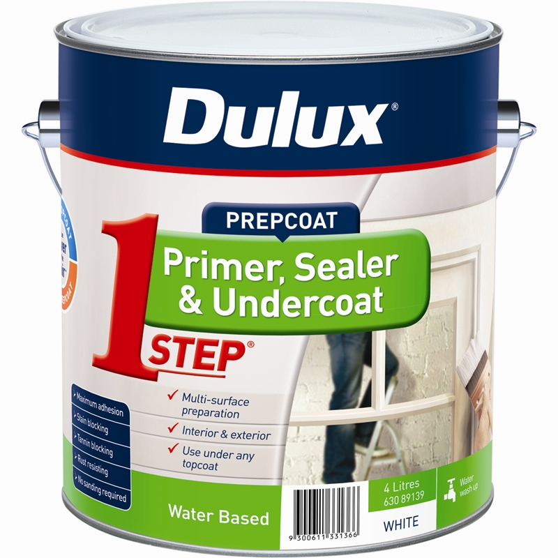 Dulux 4l 1 step acrylic based primer sealer undercoat bunnings warehouse Oil based exterior paint brands