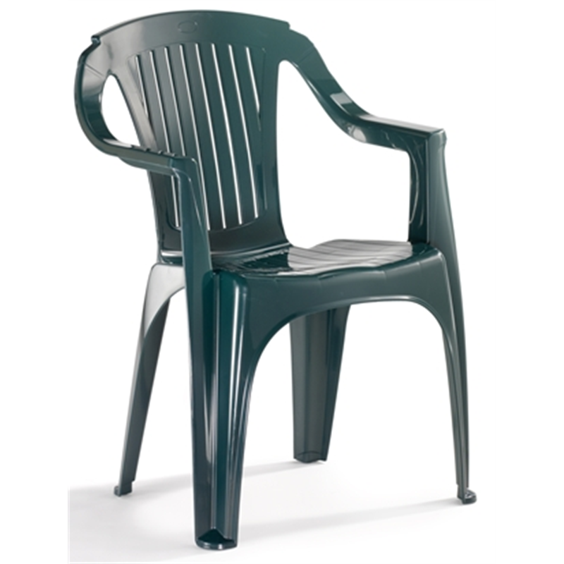 Marquee Rimini Low Back Green Resin Chair