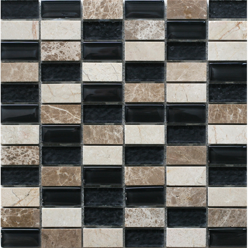 Decor8 tiles 300 x 300 x 8mm crema black linear mosaic tile for Decor8 tiles