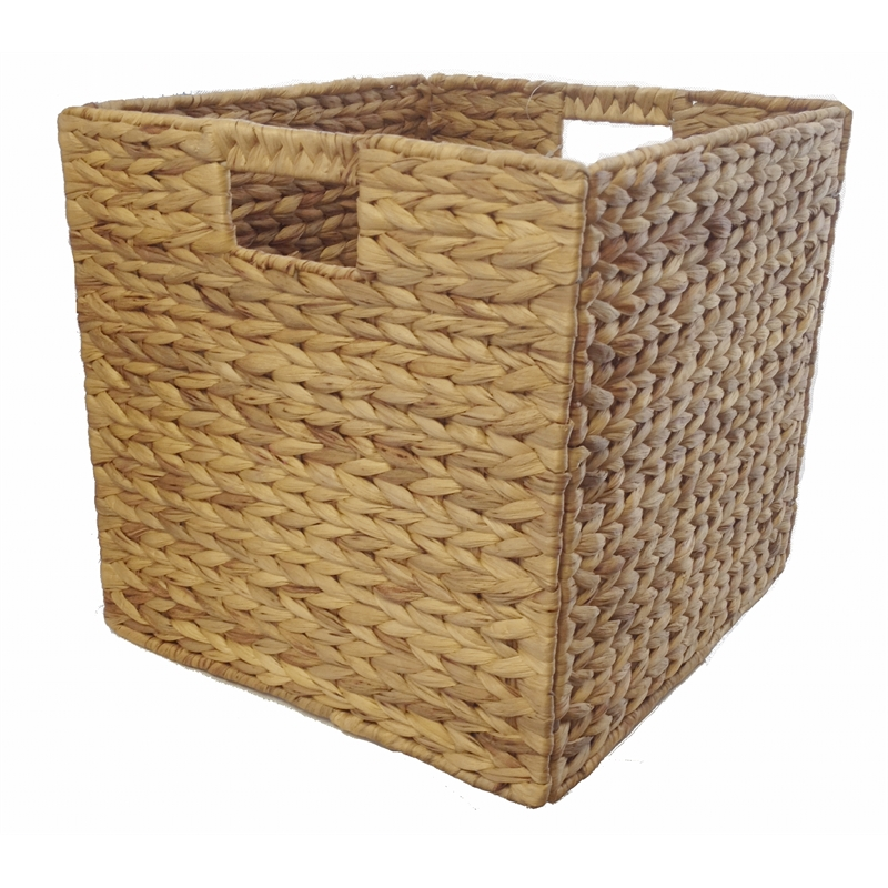 Wicker Basket Storage Cube : Clever cube mm water hyacinth natural insert