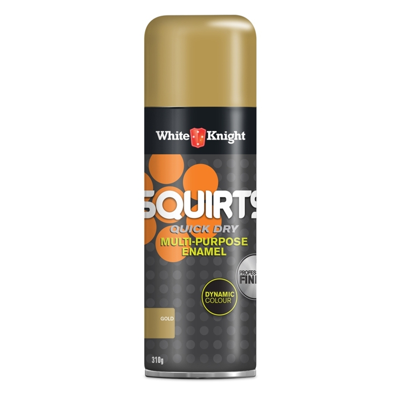 White Knight Squirts 310g Gold Spray Paint Bunnings Warehouse