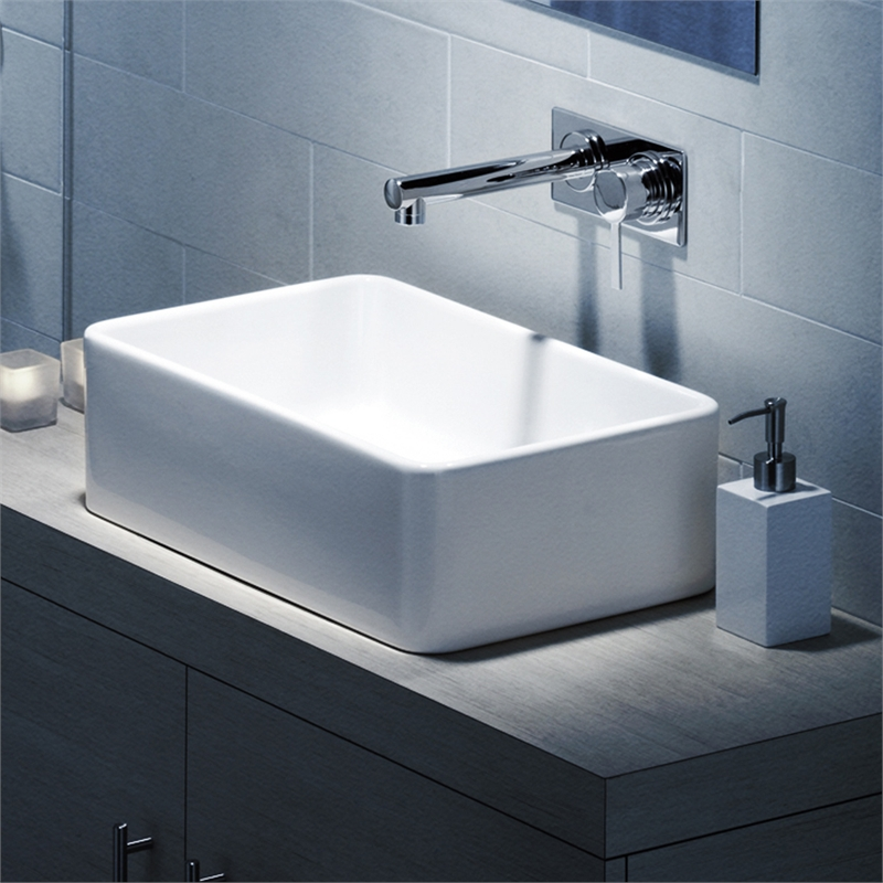 Caroma White Cube Over Counter Basin Bunnings Warehouse