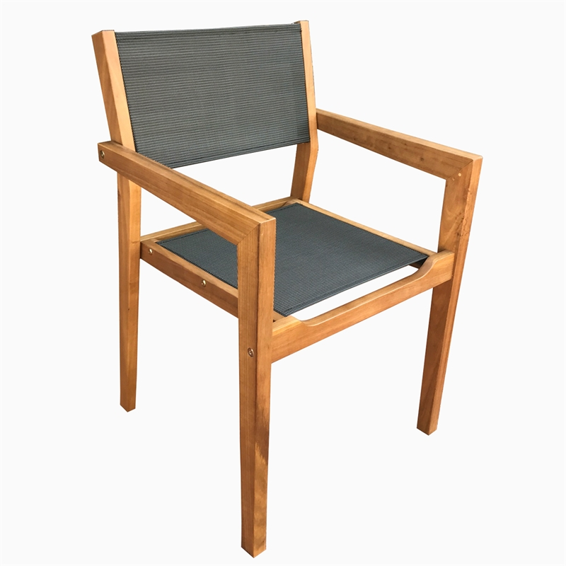 Mareeba Timber and Textilene Sling Armchair