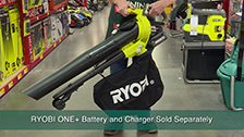 About Ryobi Lithium+ 36V Cordless Blower Vac Consoles