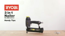 About Ryobi Airwave 3 in 1 Air Brad Nailer And Stapler