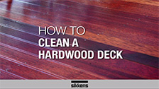 How To Clean a Hardwood Deck