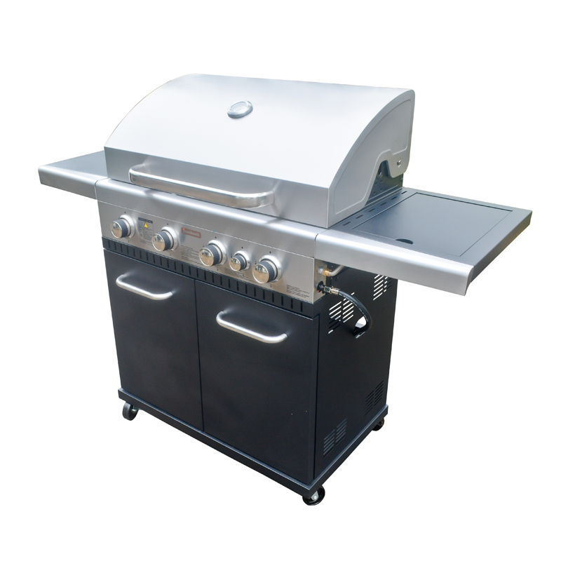 4 Burner Hooded Stardom BBQ With Side Burner