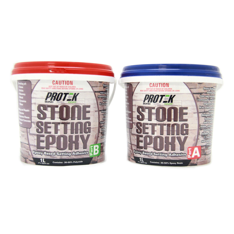 Protek 2l Stone Setting Epoxy Adhesive Kit Bunnings