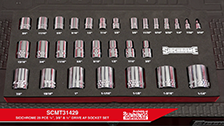 "About Sidchrome 29 Piece Mixed Drive (1/2"", 3/8"" & ¼"")  Custom Kit Imperial Socket Set"