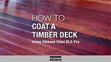 How To Coat a Timber Deck BLX Pro