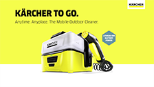 About Karcher's Cordless Mobile Outdoor Cleaner