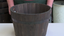 About Tuscan Path Half Barrel Wooden Planters