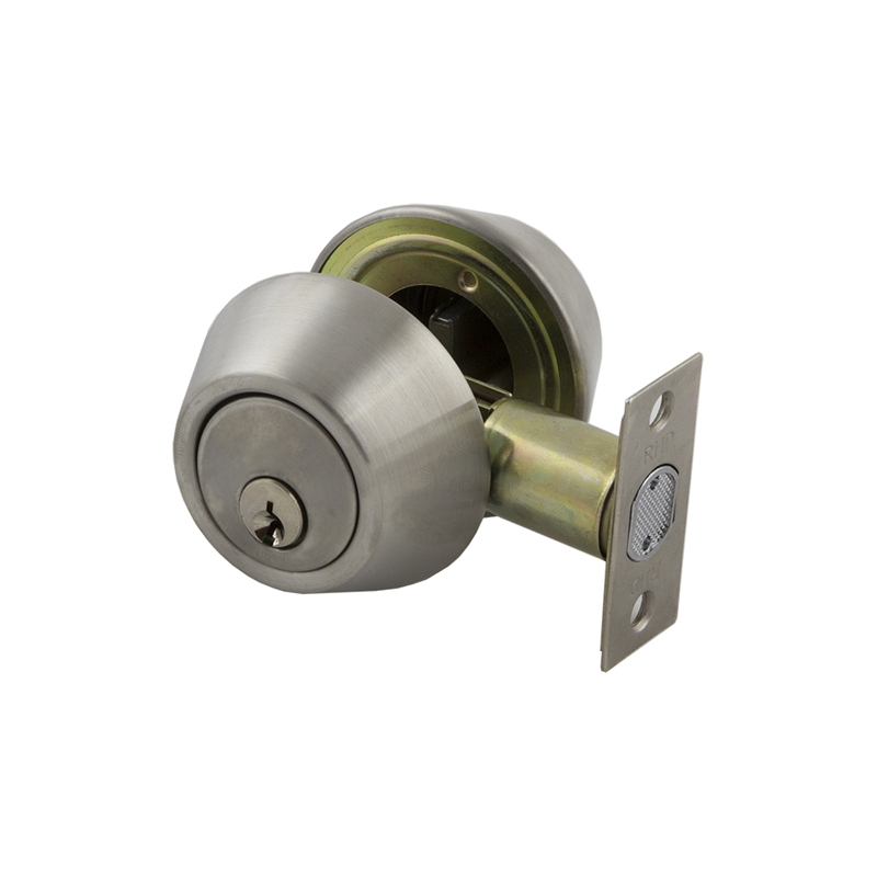 Ikonic Nickel Brushed Deadbolt Bunnings Warehouse