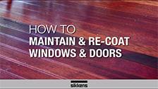 How To Maintain and Recoat Windows and Doors