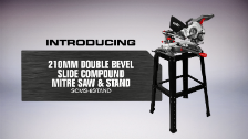 About Ozito 210mm Double Bevel Slide Compound Mitre Saw and Stand