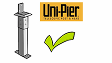 About Uni-Pier Head With Antcap To Suit 75 x 75mm Posts