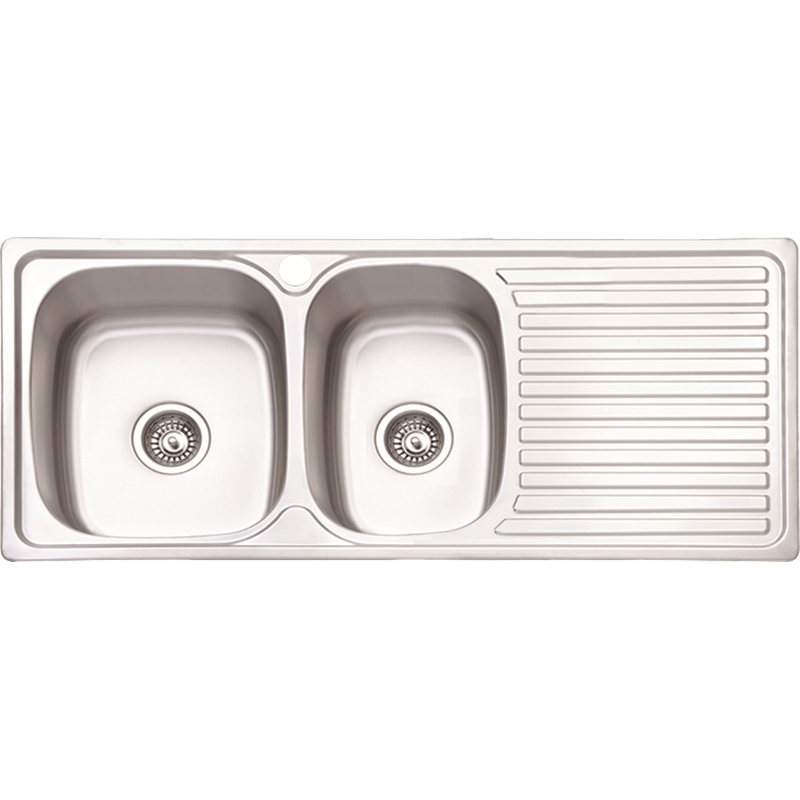 Estillo Designer 1080 x 480 1-3/4 Bowl Sink With Drainer Right Hand Bowl