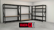 About Rack It 420 x 900mm 1000kg Black Pegboard