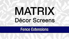 About Matrix 2400 x 600mm Charcoal Sahara Fence Extension