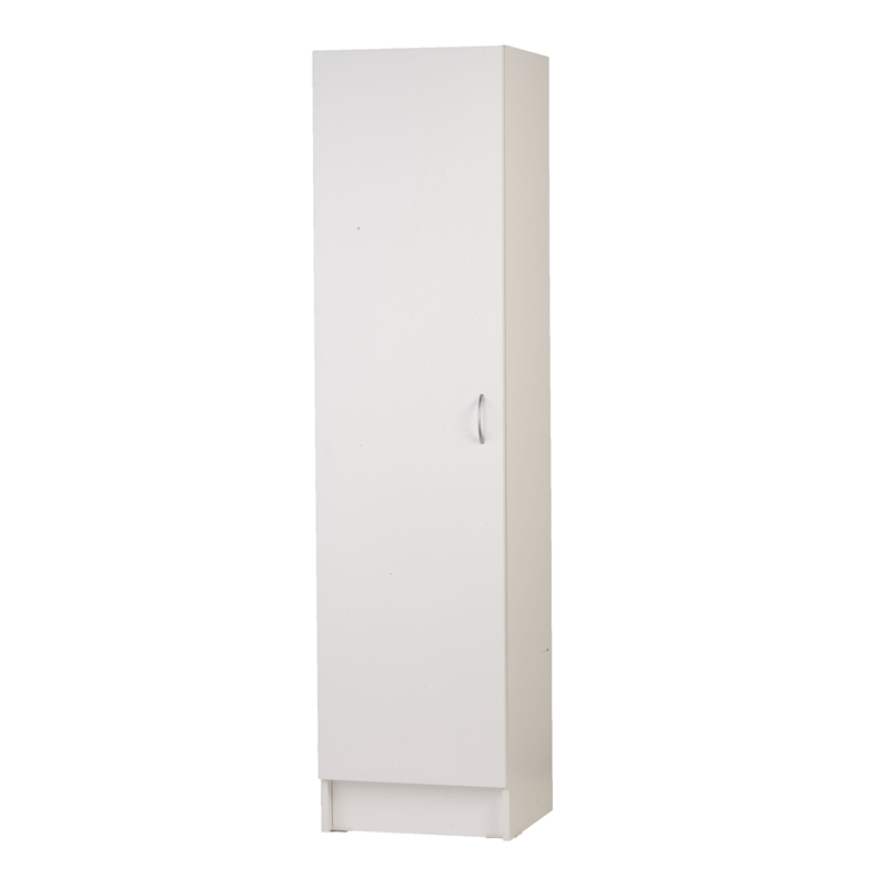 Pantry Cabinet: One Door Pantry Cabinet with Bedford mm White Door ...