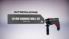 About Ozito 1010W Hammer Drill Kit With 51 Accessories
