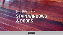How To Stain Windows and Doors