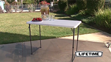 About Lifetime's 4ft Bi-Fold Blow Mould Trestle Table
