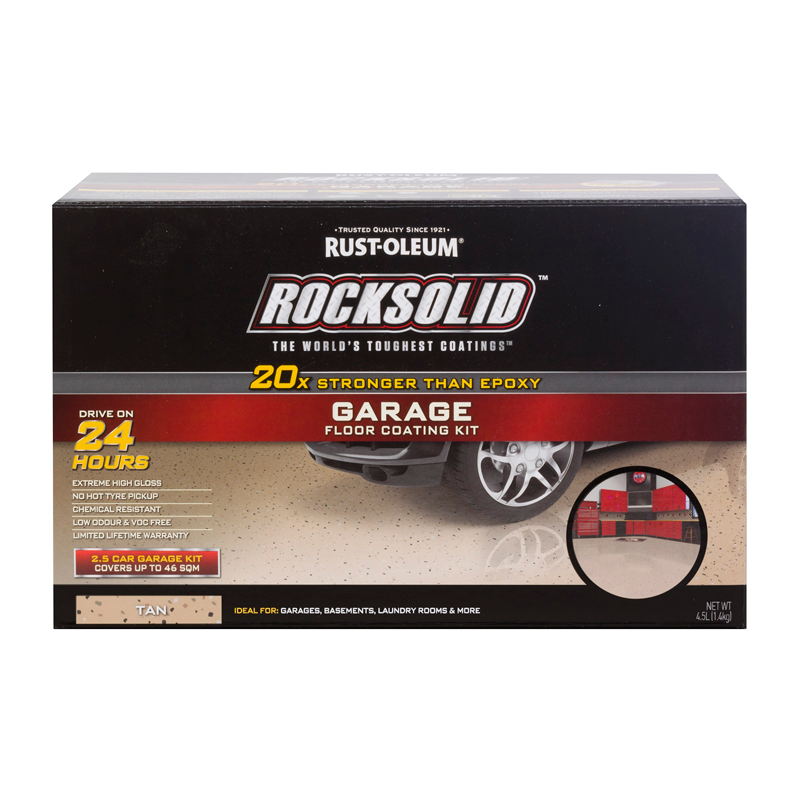 Rust Oleum Tan Rocksolid Garage Floor Coating 2 5 Car