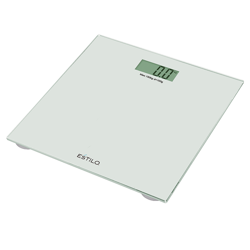 Estilo 150kg White Gl Digital Bathroom Scales