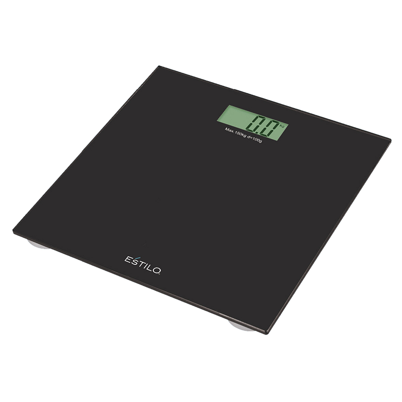 estilo 150kg black glass digital bathroom scales - Bathroom Scales