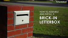 Sandleford How to install a Brick-In Letterbox