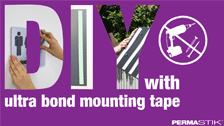 About Permastik 32mm x 1m White Outdoor Weather Resistant Mounting Tape Roll