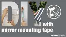 About Permastik Heavy Duty Indoor Mirror Mounting Strips - 9 Pack