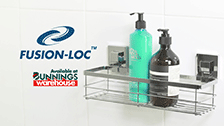 About Fusion-Loc 26kg Large Shower Caddy Suction Bathroom Accessory