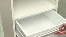 About Multi-store 1 Shelf 5 Drawer Wardrobe Insert
