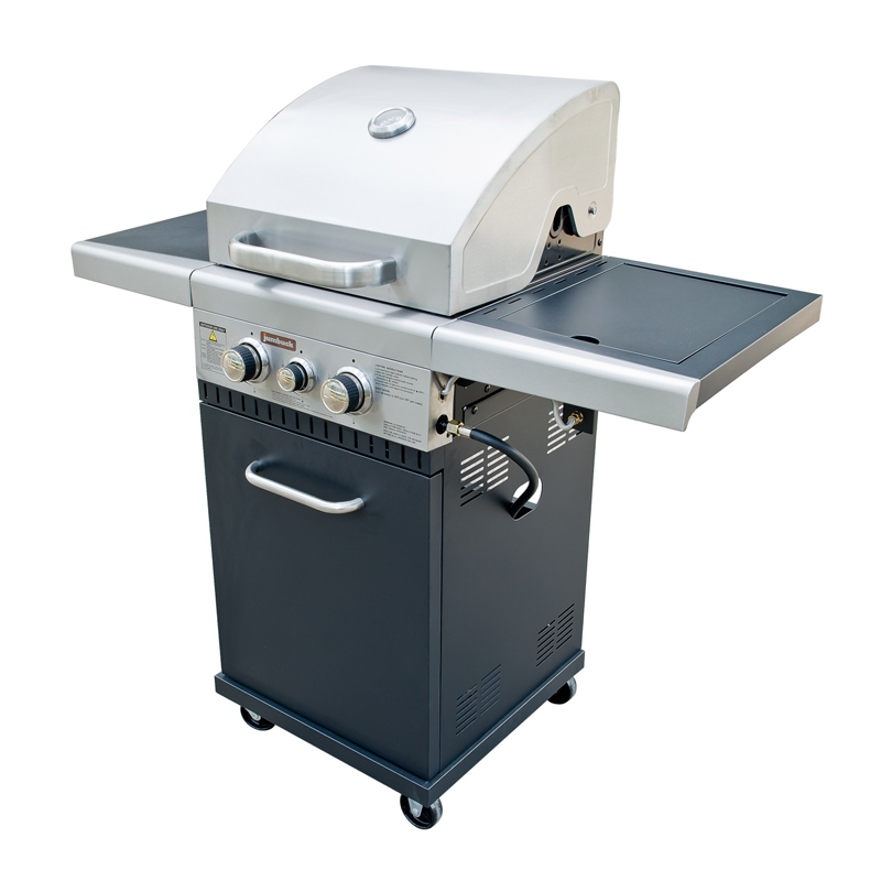 2 Burner Hooded BBQ with Side Burner