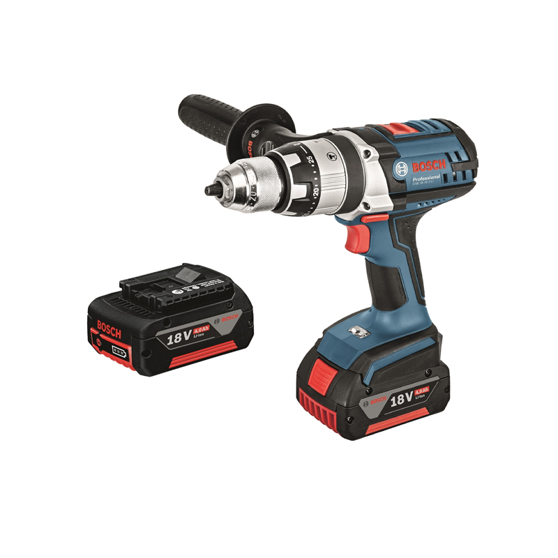 bosch professional gsb 18v 4 0ah hammer drill kit bunnings warehouse. Black Bedroom Furniture Sets. Home Design Ideas
