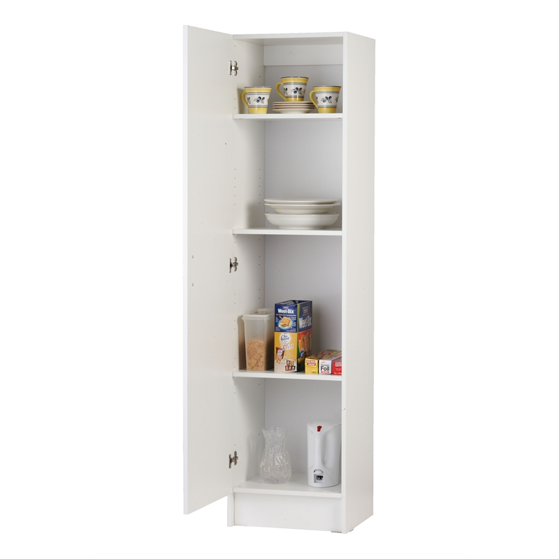 Bedford 450mm white 1 door pantry bunnings warehouse for Single kitchen cupboard